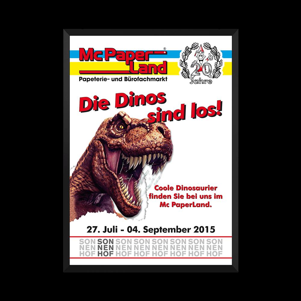 Plakat Die Dinos sind Los
