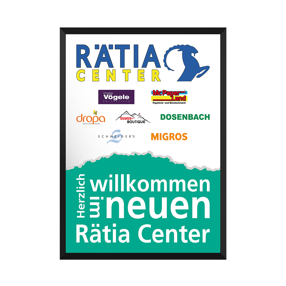 Plakat Rätia Center