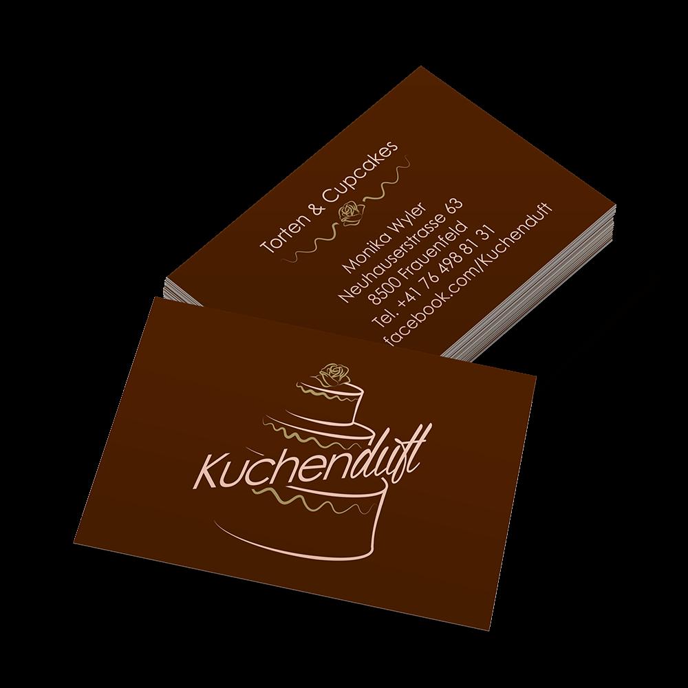 Visitenkarten Kuchenduft