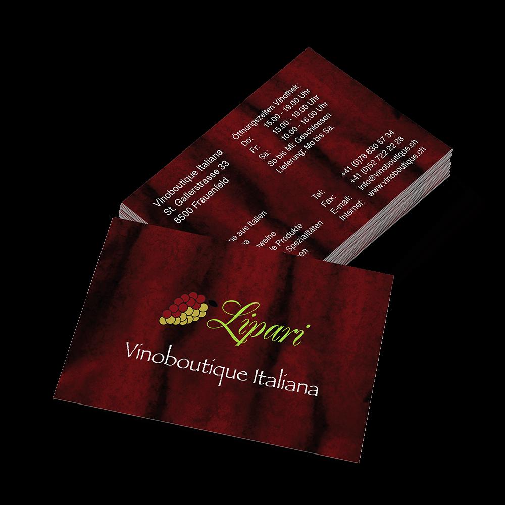 Visitenkarten Vinoboutique Lipari